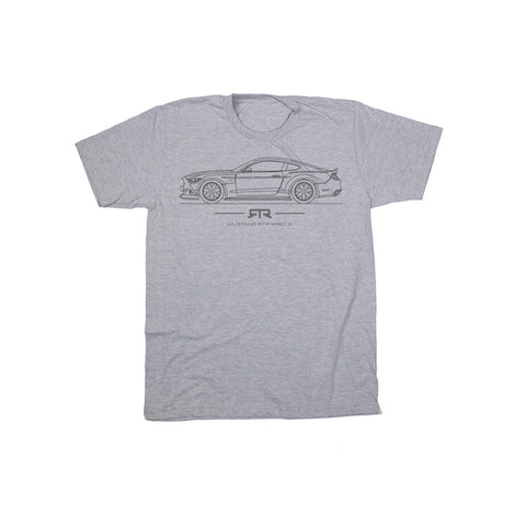 Mustang RTR Gray Spec 5 T-Shirt - Mustang RTR - 1