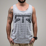 Mustang RTR Grey Heather Fade Tank Top - Mustang RTR - 1