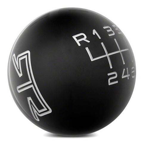RTR BLACK SHIFT KNOB - GREY ENGRAVING (11-14 GT, V6) - Mustang RTR - 1