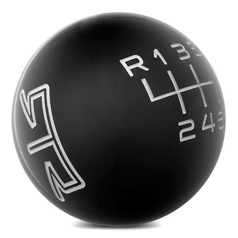 RTR BLACK SHIFT KNOB - GREY ENGRAVING (15-17 ALL) - Mustang RTR - 1