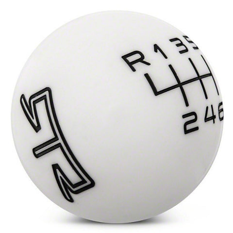 RTR WHITE SHIFT KNOB - BLACK ENGRAVING (11-14 GT, V6) - Mustang RTR - 1