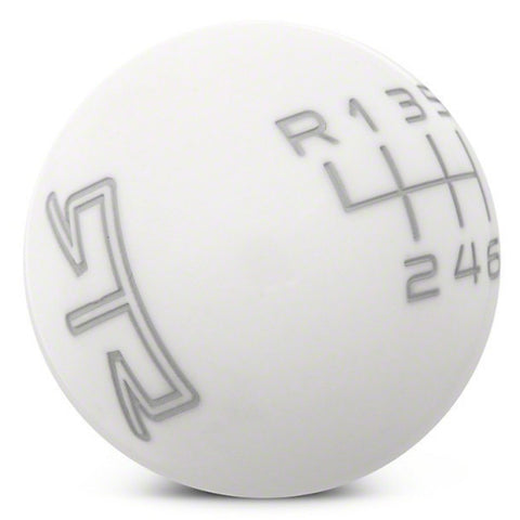 RTR WHITE SHIFT KNOB - GREY ENGRAVING (11-14 GT, V6) - Mustang RTR - 1