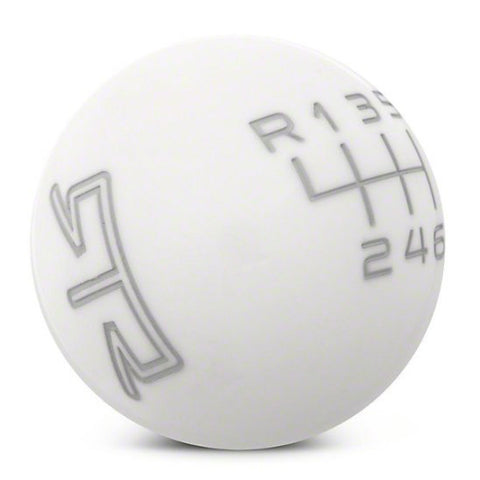 RTR WHITE SHIFT KNOB - GREY ENGRAVING (15-17 ALL) - Mustang RTR - 1