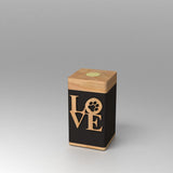 Vessel Love Paw Modern Keepsake Urn with PhoneTouch