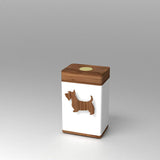 Vessel Pet Breed Modern Keepsake Urn with PhoneTouch