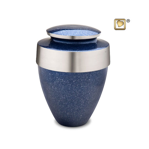 Eternity™ Cremation Urn in Speckled Indigo