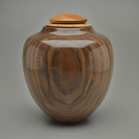 Craftsman American Black Walnut Urn