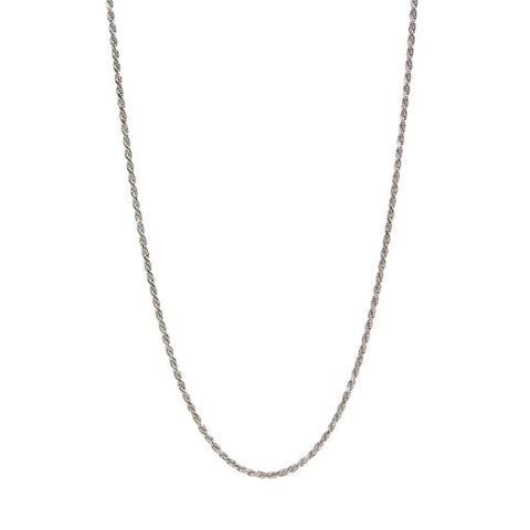 Sterling Silver Rope Chain – 20 Inches