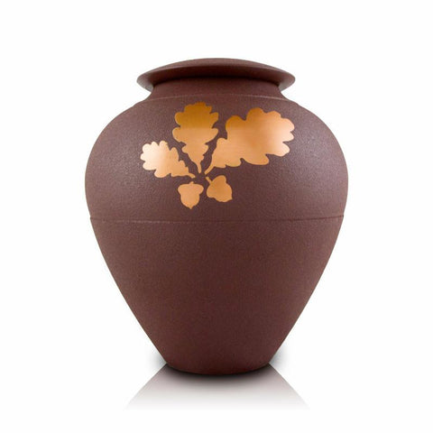 Oak Leaf Back to Nature Cremation Urn