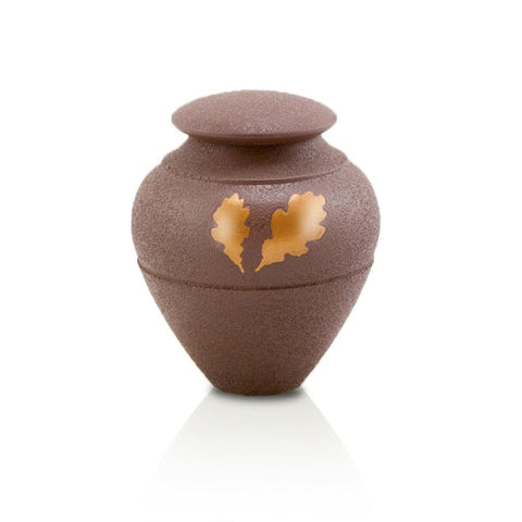 Oak Leaf Back to Nature Cremation Keepsake Urn