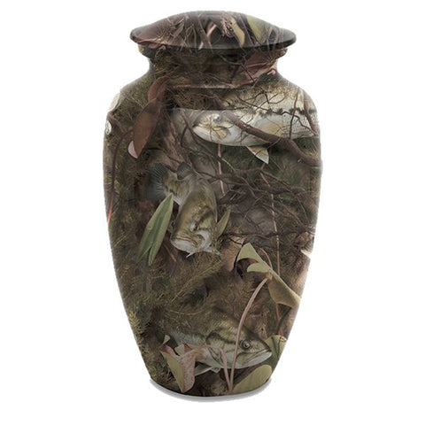 Bass Camouflage Adult Urn
