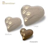 Bronze Pearlescent Paw Print Heart - Medium or Keepsake