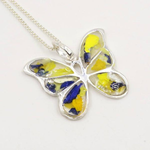 Memorial Resin Butterfly Kisses Pendant