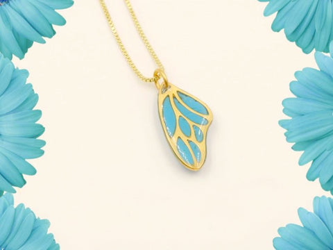 Memorial 24K Gold-Plated or Sterling Silver Butterfly Wing Pendant