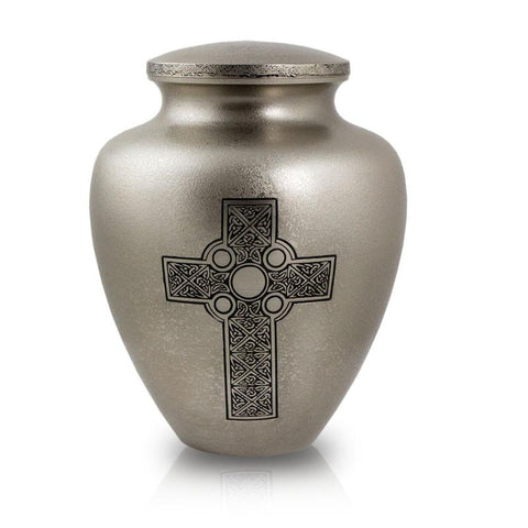 Celtic Cross Bronze Cremation Urn