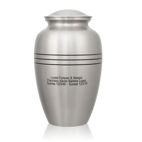 Classic Pewter Cremation Urn