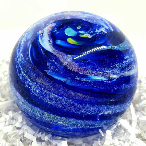 Hand Blown Glass Memorial Sphere with Cremains