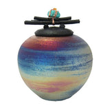 Earth's Memorial Raku Keepsake Urn