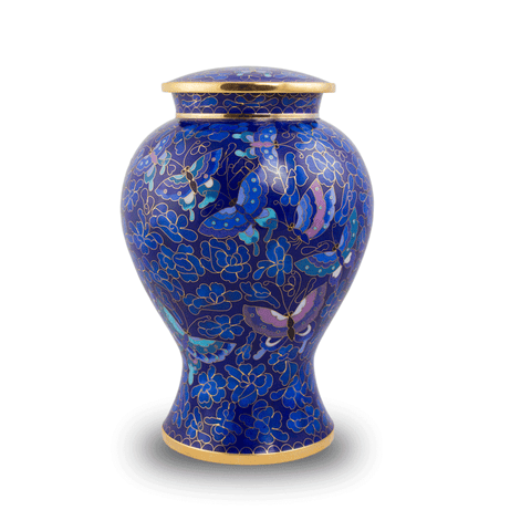 Etienne Butterfly Cloisonné Cremation Urn