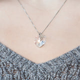 Angel Wing White Heart Necklace