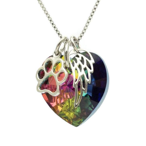 Pet Memorial Necklace - Open Paw Charm