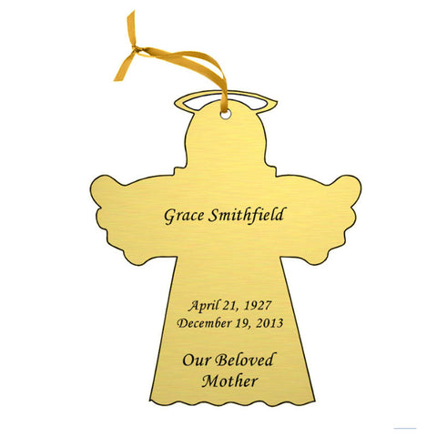 Gold Double Sided Memorial Ornament