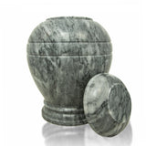 Grey Cloud Marble Cremation Urn