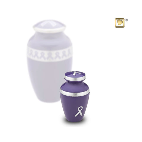 Awareness™ Keepsake Cremation Urn in Pink or Purple