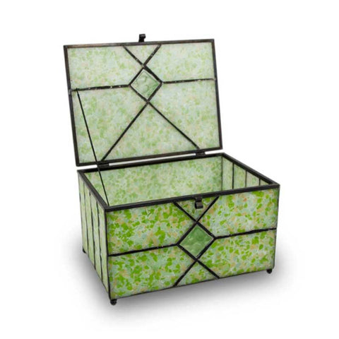 Meadow Stained Glass Box Urn Memory Chest (Adult Size)