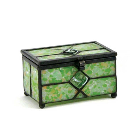 Meadow Stained Glass Box Urn Memory Chest (Keepsake Size)