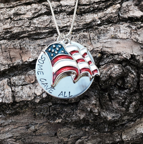 American Pride Flag Necklace