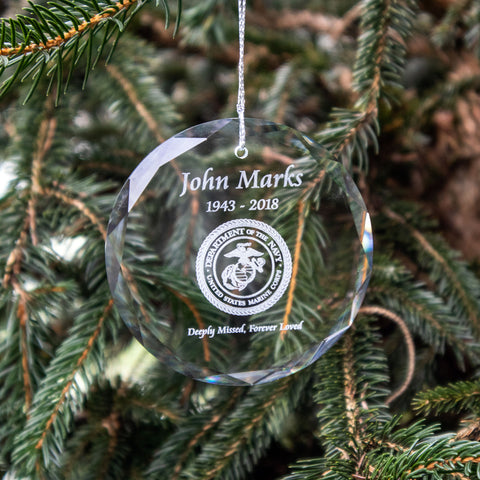 Military Emblem Crystal Ornament