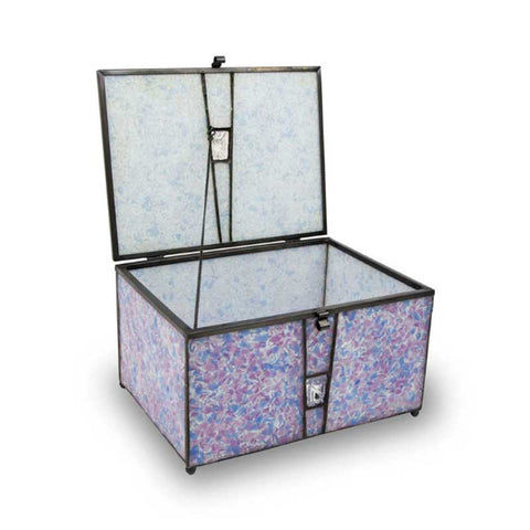 Orchid Stained Glass Box Urn Memory Chest (Adult Size)