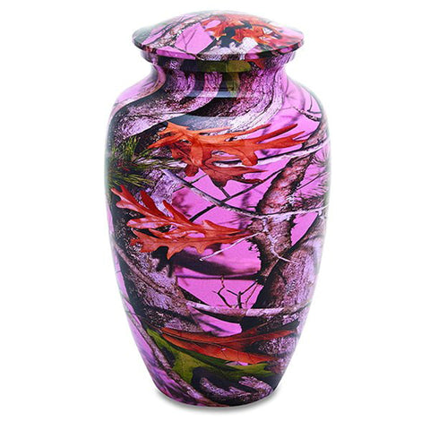Pink Camouflage Adult Urn