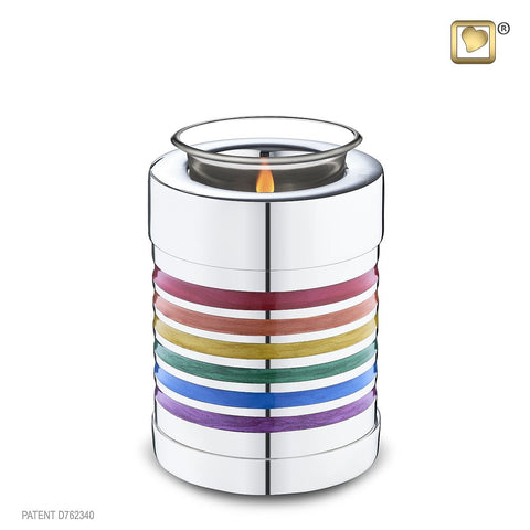 Pride Rainbow Tealight Keepsake Urn