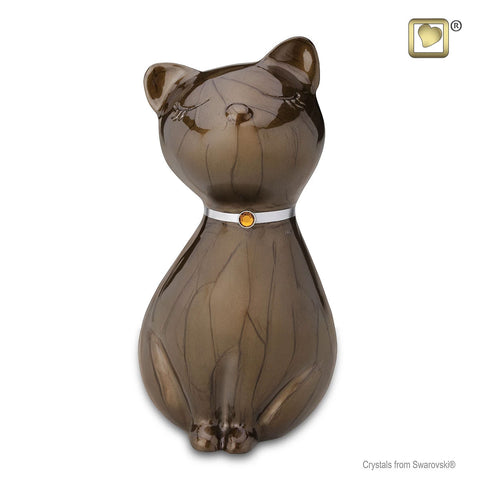 Princess Cat™ Cremation Urn in Bronze