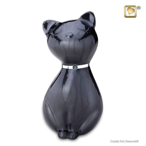 Princess Cat™ Cremation Urn in Midnight
