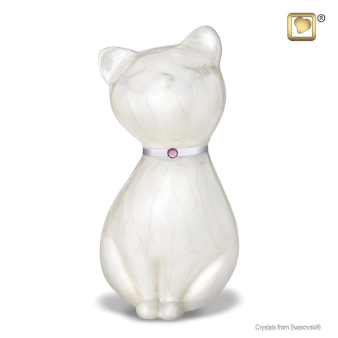 Princess Cat™ Cremation Urn in White
