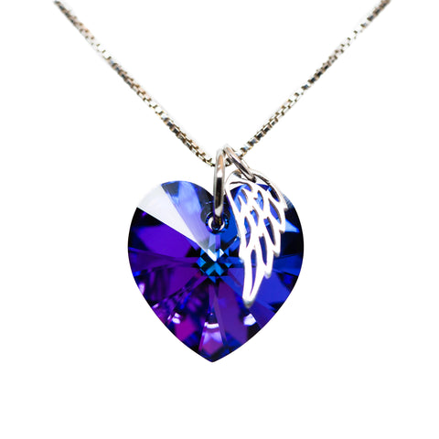 Purple Memorial Necklace