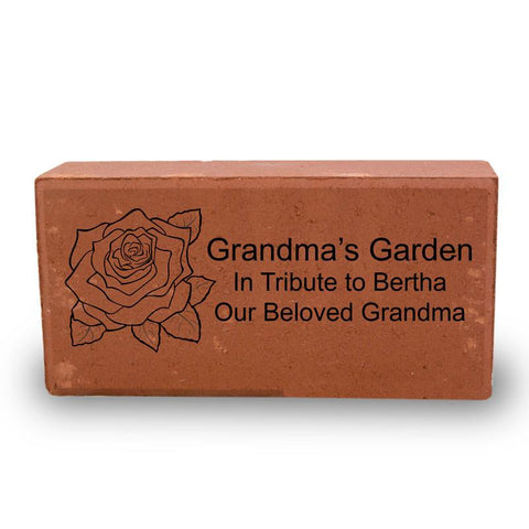 Personalized Red Memorial Brick