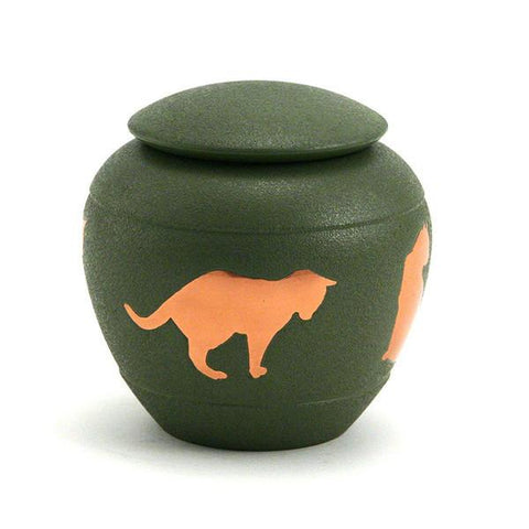 Silhouette Cat Cremation Urn