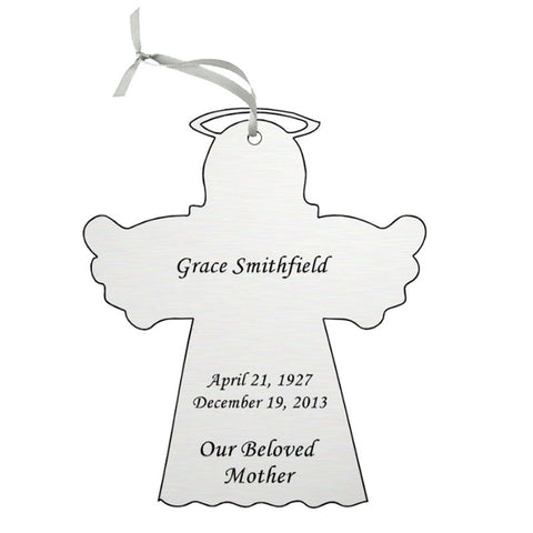 Silver Double Sided Memorial Ornament
