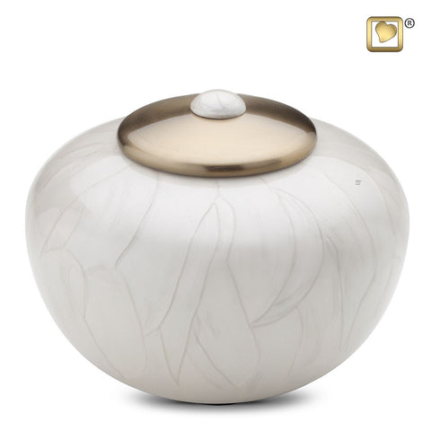 Simplicity™ Round Urn in Pearl