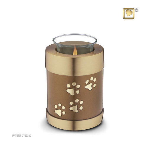 Tealight Pet Urn Bronze