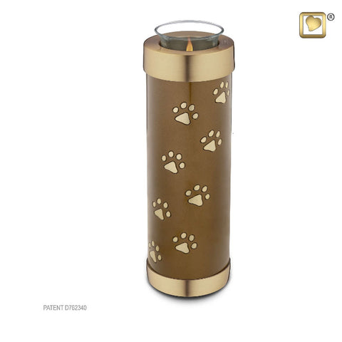 Tealight Pet Urn Bronze Tall