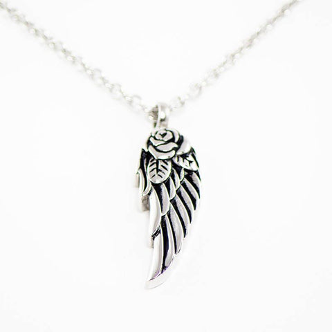 Angel Wing Cremation Pendant – Stainless Steel