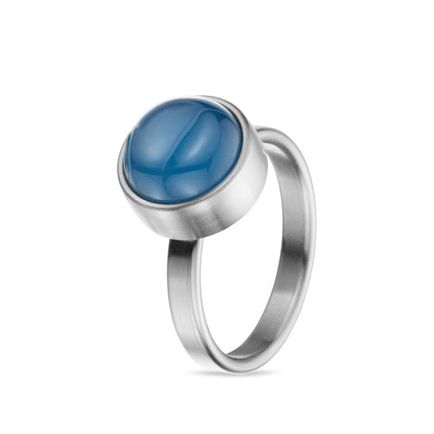 Women's Gemstone Silver Cremation Urn Ring by TadBlu