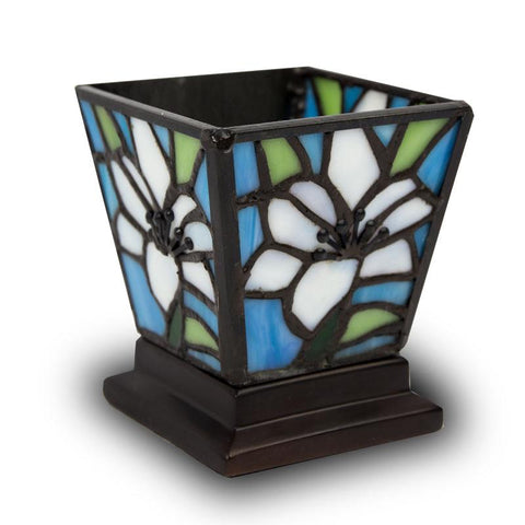 Stained Glass Cremation Candle Keepsake