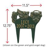 Angel Dog Memorial Garden Marker
