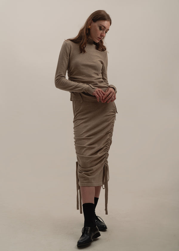 Sagittaire Skirt in Latte